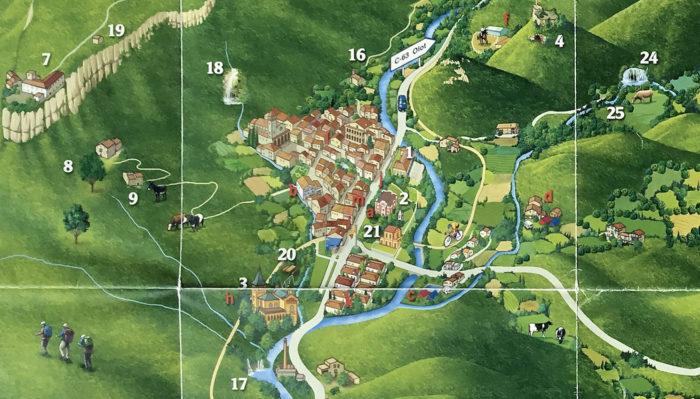 Mapa rutas senderos Via Verde Les Planes d'Hostoles